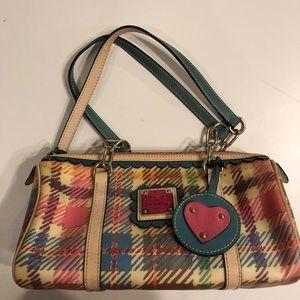 Dooney & Bourke Madrid plaid barrel purse